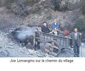 Joey Lomangino en charette à Garabandal