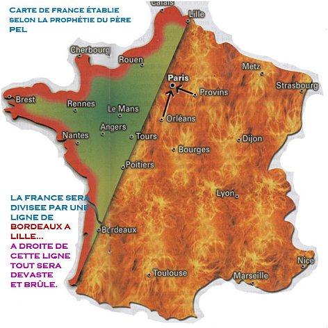 Carte de France par le Père PEL
