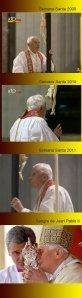 Benoît XVI - la croix - la relique de JPII